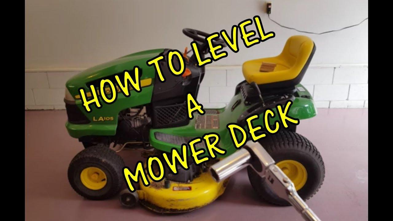 how to level a riding lawn mower deck john deere  [ 1280 x 720 Pixel ]