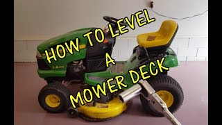 DIY! How to Level a Riding Lawn Mower Deck (John Deere)