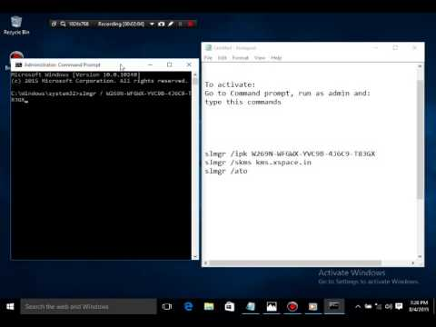 windows 10 activation by cmd