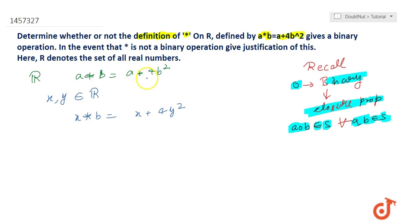 determine whether or not the definition of * on ltmath gt ltmi gtr