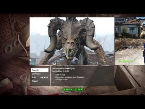 Fallout 4 Mods (Xbox One) Exploration pt1 - Initial Browsing and Mod Selection