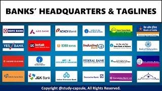 Banks' Headquarters & Taglines!! - Study Capsule
