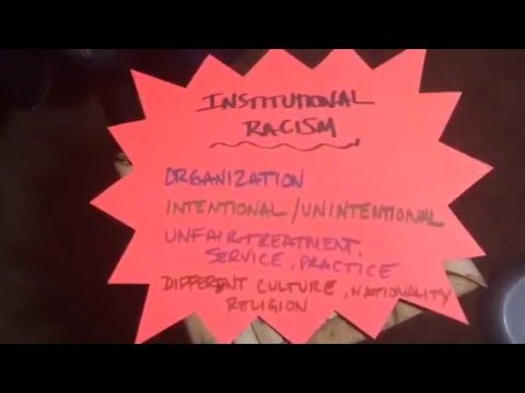 Individual and institutional racism