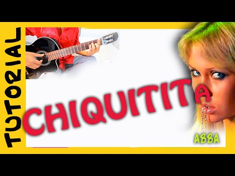 como tocar Chiquitita en guitarra acustica - Abba - acordes how to play