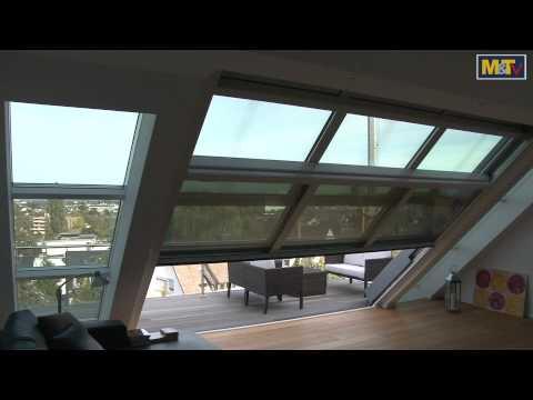 Panorama Dachfenster m&t-metallbaupreis 2011: dachschiebefenster - youtube
