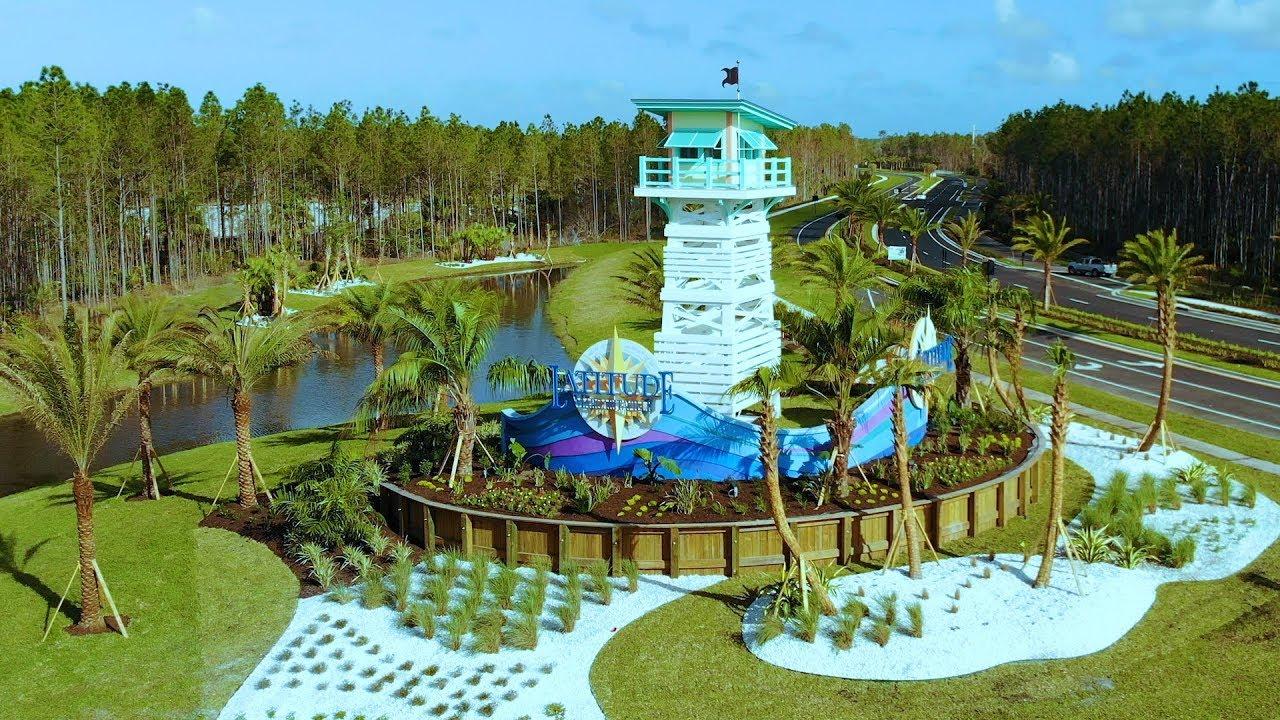 Latitude Margaritaville Daytona Beach Debuts Nine Model Homes - YouTube