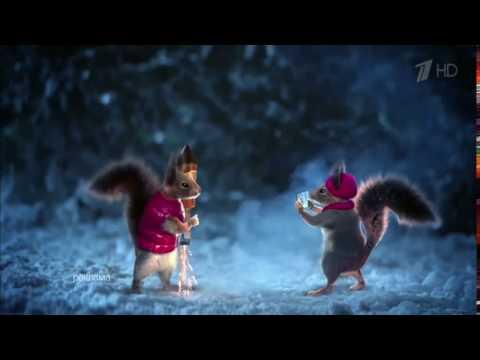 Новогодняя заставка Первого канала 2017 - Белка на елке #4