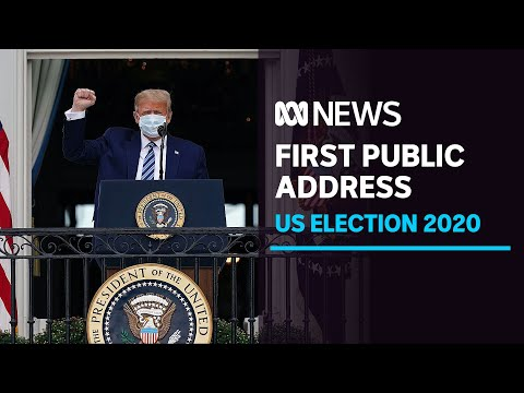 US President Donald Trump gives first public address since being treated for COVID-19 | ABC News