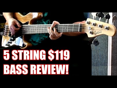 Review:  Glarry 5 String J Style Bass Guitar - $119 shipped.  Fat Strings Friday Episode #3