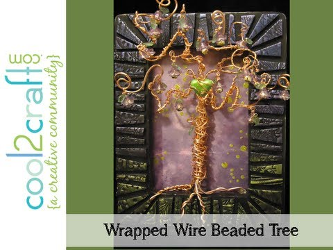 How to Make Wire Wrapped Beaded Tree Wall Art by Candace Jedrowicz ...