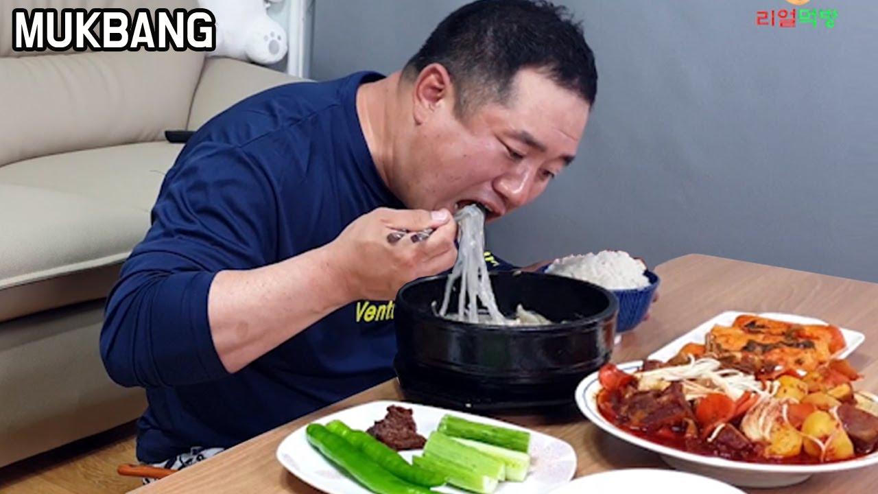 리얼먹방) 매운 소갈비찜 도가니탕 먹방  입에서 살살 녹네요 Mukbang Beef ribs 牛カルビ ASMR