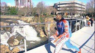 Harlem Globetrotters Attempt Trick Shot from Greenville, South Carolina's Liberty Bridge!