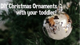 10 DIY Christmas Ornaments - Toddler friendly! Thumbnail