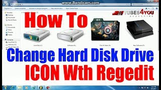 [Hindi] How To Change Hard Disk Drive Icon With Regedit with Proof | Local Drive icon change