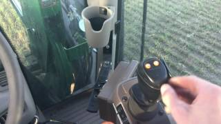 John Deere 6150r and moving bales