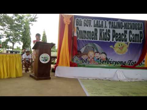 Impression tru a song for Summer Kids Peace Camp 2016(Jylle Pañares)