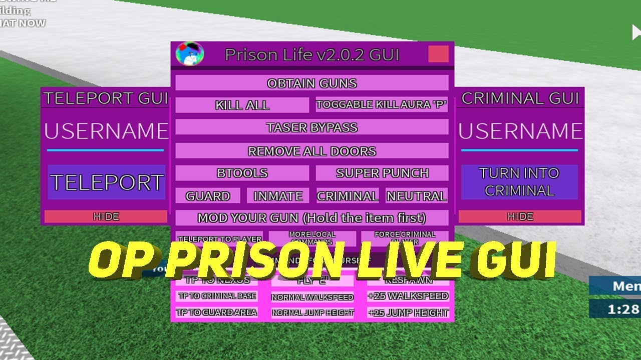 Roblox Script Showcase 2 Op Prison Life Gui Pastebin Youtube