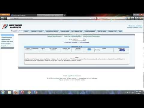 How to pay BSNL bills online using ATM card (Debit Card)