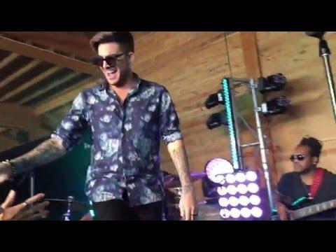 Adam Lambert - Live Performance of Ghost Town - Hobart   4th February 2016