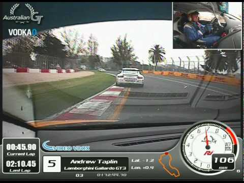 Two Laps from Melbourne - Australian GT Championship - Video VBOX