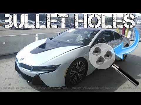 A $100,000 BMW i8 was Totaled Due to Bullet Holes! Real Life GTA?