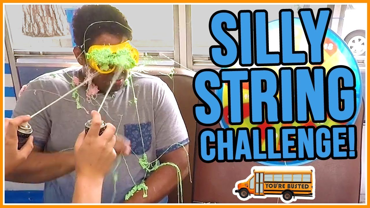 silly string challenge you re busted w hunter march youtube