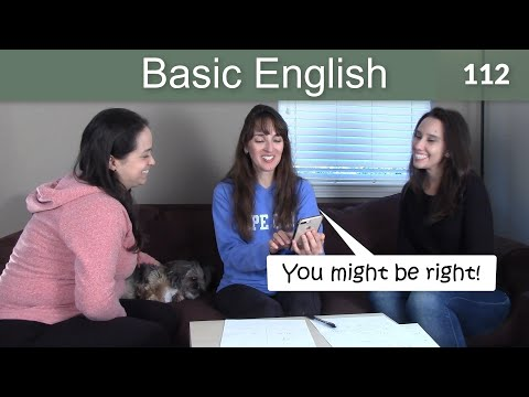 Lesson 112 ????? Basic English with Jennifer - MAY and MIGHT (modals)