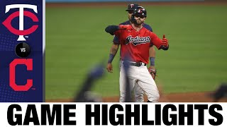 Indians score 3 in the 8th in 6-3 win | Twins-Indians Game Highlights 8/26/20