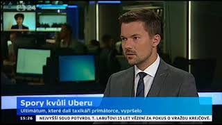 22.09.2017 CT24 Spory kvuli Uberu David Bednar