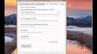 MarcEdit OCLC Metadata API Integration: Saving and Validating your keys