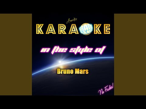 Talking To The Moon (In The Style Of Bruno Mars) (Karaoke Version)