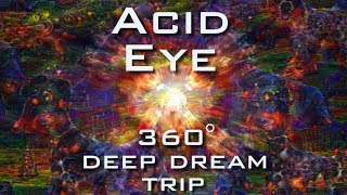Psychedelic Deep Dream Fractal Trip - ACID EYE 360° VR Slideshow 4K