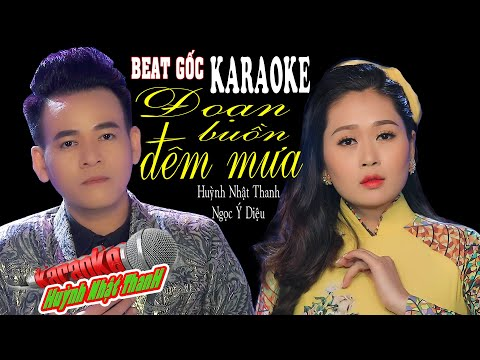 Đoạn Buồn Đêm Mưa | Karaoke Song Ca | Huỳnh Nhật Thanh ft Ngọc Ý Diệu | Beat Chuẩn | Tone Am