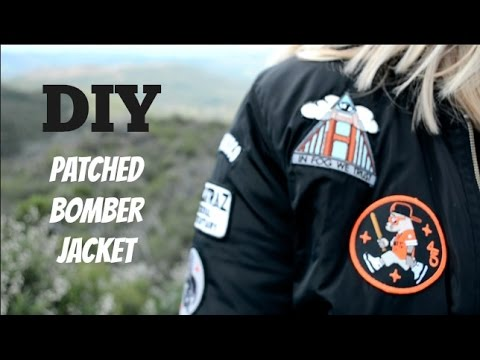 DIY Patched Bomber Jacket