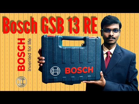 Bosch GSB 13 RE Impact Drill Machine With 100 Pieces Accessory Professional Tool Kit Unboxing.