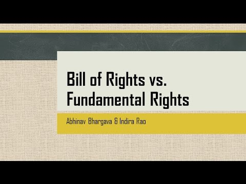 Bill of Rights vs Fundamental Rights | UPSC IAS MAINS | Comparison of Constitution