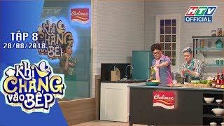 """HTV KHI CHÀNG VÀO BẾP   Diễm My 9X """"điên đầu"""" hướng dẫn Chí thiện nấu ăn   KCVB #8 FULL"""
