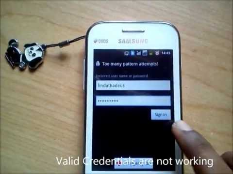 ByPass Android ScreenLock in Samsung Ace Duos S6802
