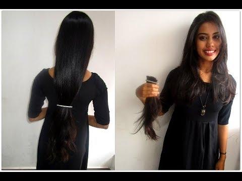 Hair Cut Waist To Shoulder Length Transformation Short