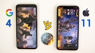Pixel 4 XL vs iPhone 11 Pro Max SPEED Test - This is CRAZY!