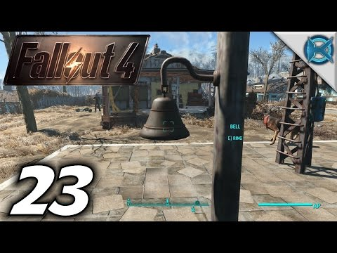 """Fallout 4 -Ep. 23- """"Town Bell, Weapon Modding & Building"""" -Gameplay / Let's Play- (S1)"""