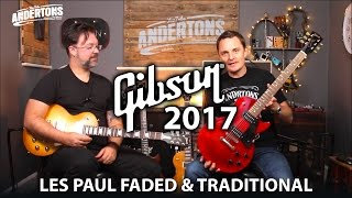 gibson 2017 les paul shoot out faded vs tribute