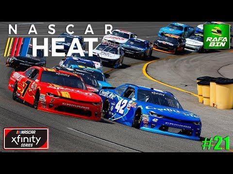 NASCAR HEAT 2 CARREIRA #22 LIDERANDO A XFINITY SERIES!!