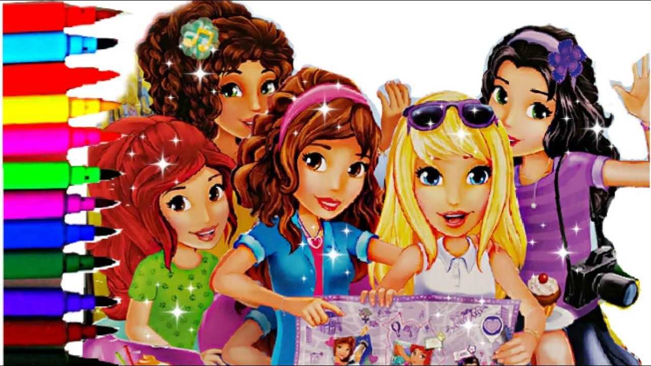 LEGO Friends Coloring Book Pages Lego Girls Brilliant Color Kids Fun ...