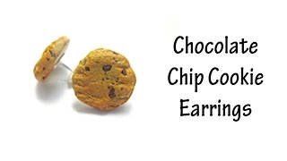 Chocolate Chip Cookie Earrings Polymer Clay Tutorial