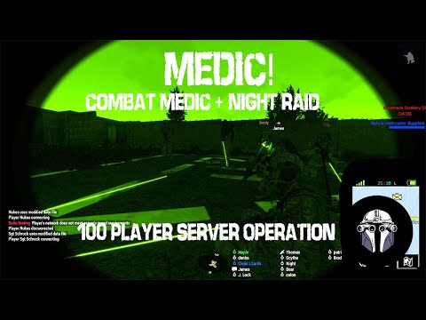 MEDIC! Combat Medic + Night Raid in Karmakut's 100 Player Arma 3 Liberation Server|Ep4|
