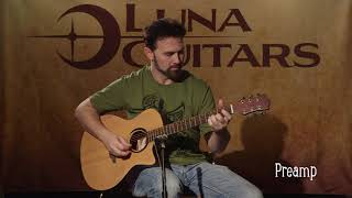Wabi Sabi Grand Concert w/ Preamp – Solid Spruce Top by Luna Guitars