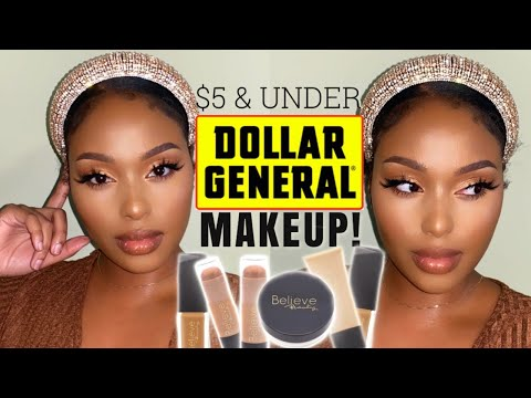 Dollar General Makeup Tutorial | Dollar Store Makeup $5 & Under!!! | BELIEVE BEAUTY REVIEW