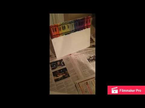Crayon waterfall time lapse!