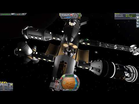 KSP - SLSS (Single Launch Space Station) Constructed in orbit over Duna